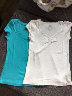 2 bunte Shirts der Marke Esprit
