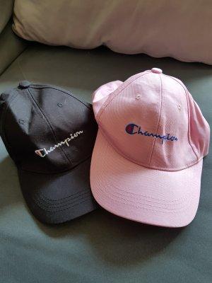 Casquette de baseball noir-rose clair