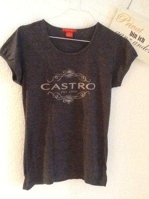 2 CASTRO T-Shirts in grau und lila in der Gr. 1 ( S )
