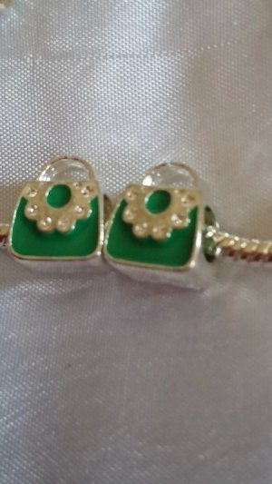 Pendente argento-verde