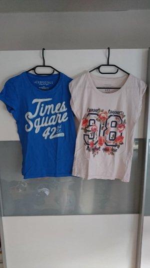 Aeropostale T-Shirt pink-blue