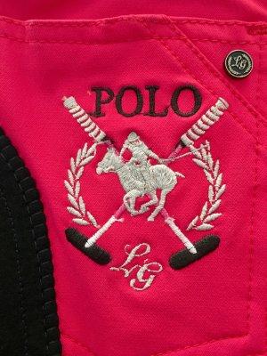 HKM Sports Equipment Pantalón de equitación rojo frambuesa poliamida