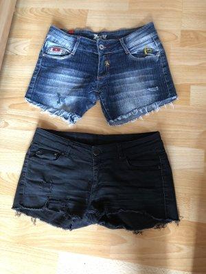 Denim Shorts black-cornflower blue