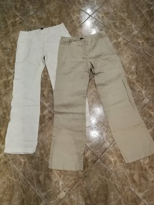 H&M Linen Pants white-camel linen
