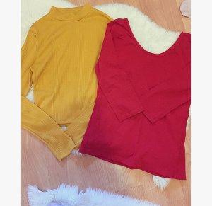 2-er Set Pulli in der farbe gelb und rot