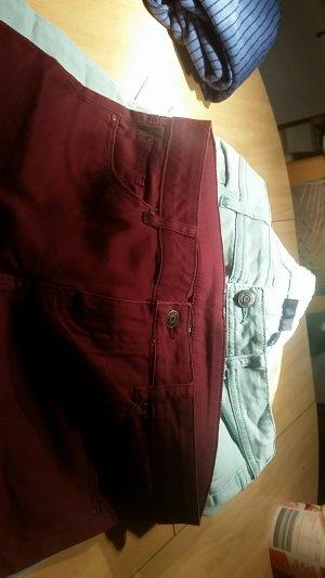 2 esmara Jeans Bordeaux u.türkis