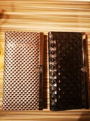 2 Geldbeutel Geldbörse schwarz und Bronze