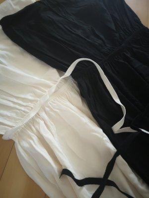 H&M Abito a fascia bianco-nero