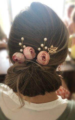 Spilla per capelli oro-rosa