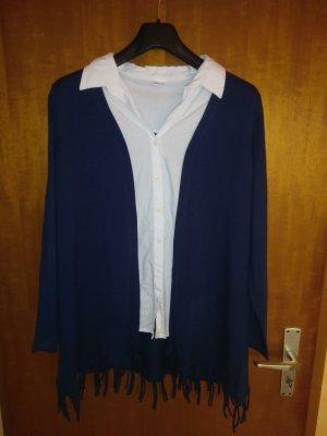 Sweater Twin Set white-dark blue