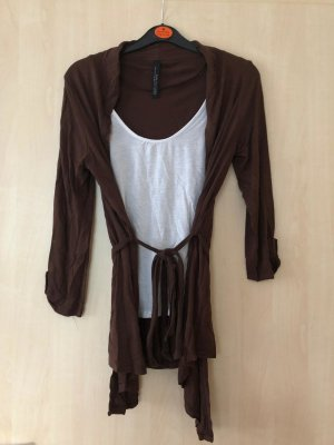 2-in-1 Cardigan mit Shirt