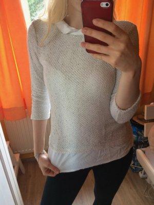 2 in 1 kombinierte Bluse mit Pulli