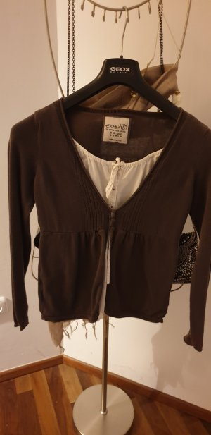Esprit Sweater wit-grijs-bruin