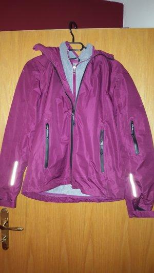 Regenjas grijs-violet
