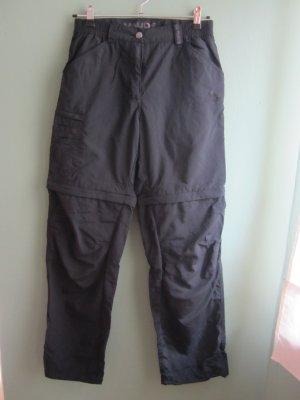 2 in 1 Trekkinghose von VAUDE, schwarz