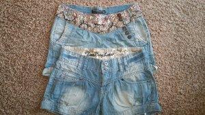 Flame Denim Shorts blue