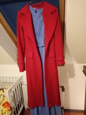 8 Robe à manches longues rouge-bleu azur