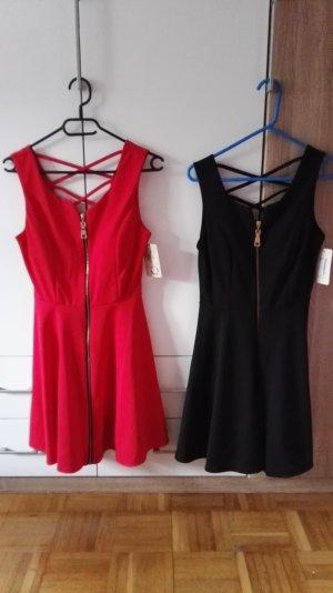 2 Kleider in Schwarz und Rot