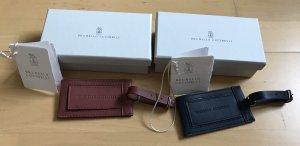 2 Kofferanhänger Taschenanhänger luggage tags von Brunello Cucinelli