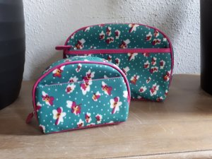 Luggage green-raspberry-red