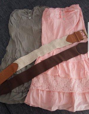 2 kurze Bandeau-/Strandkleider