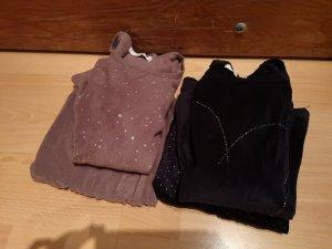 Pijama marrón grisáceo-azul oscuro