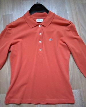 2 LACOSTE Langarm Shirt in Rosé Lachs wie neu