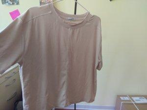 Zara Camisa con cuello caído crema