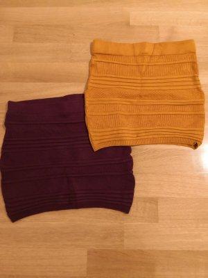 Amisu Gonna lavorata a maglia multicolore