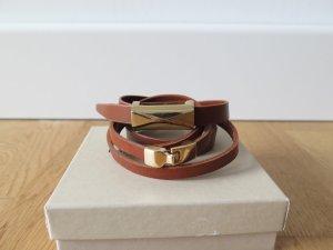 2 nagelneue Armbänder braun/gold von Banana Republic