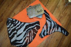 2 niedliche Slips im Tiger-Look von D&G und süße Dose