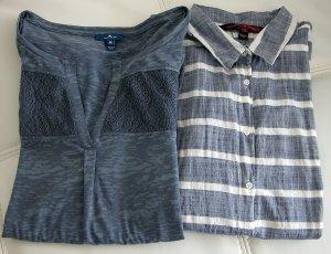 2 Oberteile im Set, Langarmshirt und Bluse, Größe S/M, wie neu
