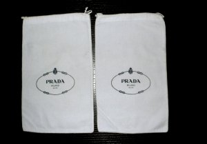 2 Original Prada Staubbeutel/Dustbag