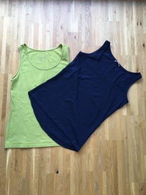 Orsay Top linea A verde prato-blu scuro Cotone
