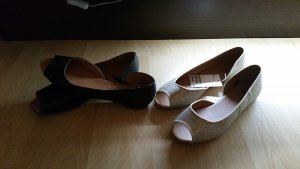 H&M Ballerinas with Toecap black-gold-colored