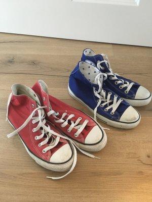 2 Paar Converse Chucks rot blau Gr. 38