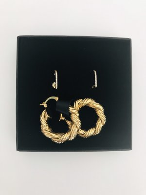 Ear Hoops gold-colored-yellow