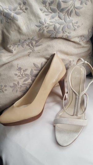 2 Paar Schuhe in creme NEU u.a Massimo Dutti
