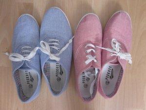 2 Paar Sommer Sneaker Stoffschuhe
