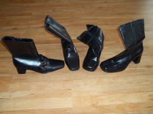 2 Paar Stiefel /Stiefeletten in Gr. 39 schwarz