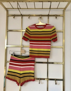 Zara Knitted Twin Set multicolored