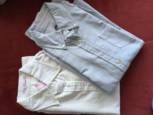 Polo Ralph Lauren Long Sleeve Shirt white-cornflower blue
