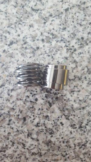 2 Ringe in Chrome/Grau
