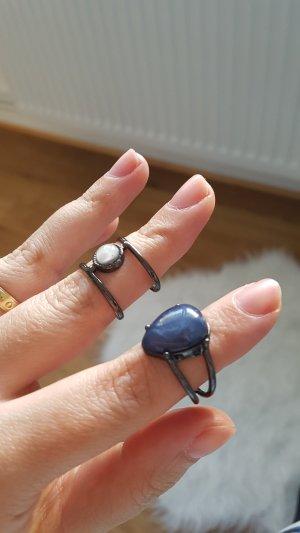 2 ringe set blau schwarz h&m