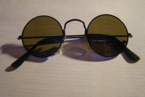 2 runde Brillen: Silber und Schwarz