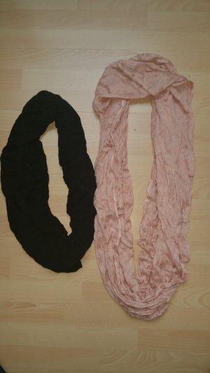 Sjaal zwart-roségoud