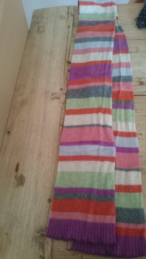 Benetton Bufanda de lana blanco-violeta