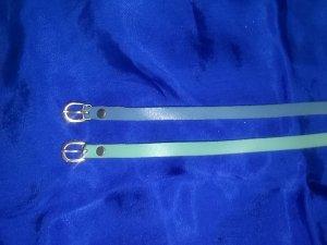 Ceinture de taille bleu clair-turquoise cuir