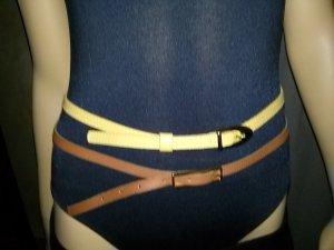 N n.d.c. made by hand Cintura vita marrone-beige Pelle