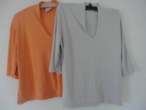 Barisal Camisa con cuello V naranja-gris